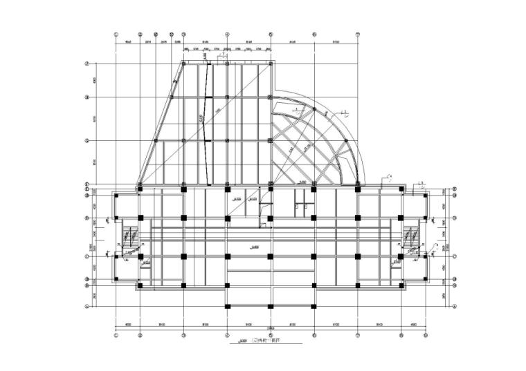12层框架结构商务中心办公楼结构施工图