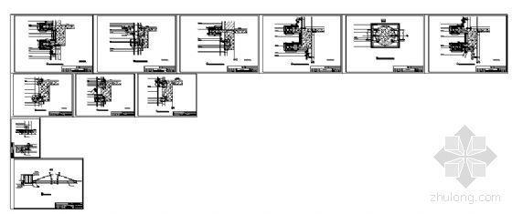 宁工新寓点式幕墙节点详图-4