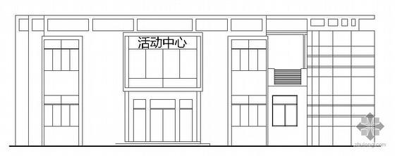 [河南工程学院毕业设计]某社区会所中心建筑方案图(带3D模型及素材、成品图片和展板、初期起稿)