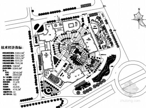 [重庆]商住社区广场景观园林绿化工程施工图