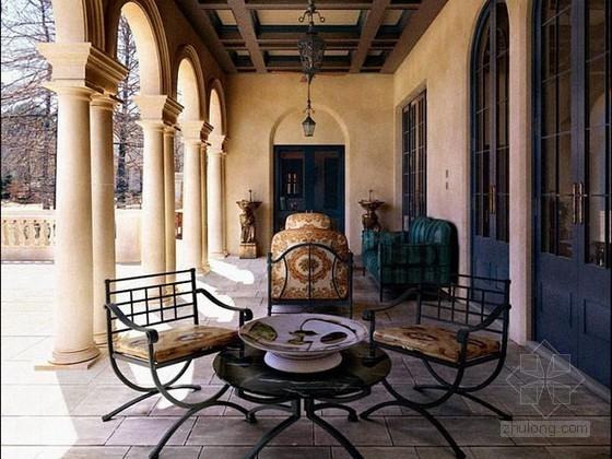 地中海风格别墅庭院3d模型下载