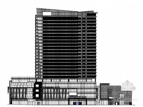 [株洲]某二十四层商务酒店明框玻璃幕墙建筑施工图