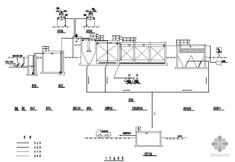 uasb厌氧反应器工艺图资料下载-青岛某乳制品厂污水站生物接触氧化处理工艺施工图
