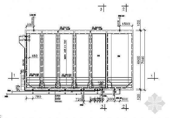 A/O生化池、吹脱池施工图