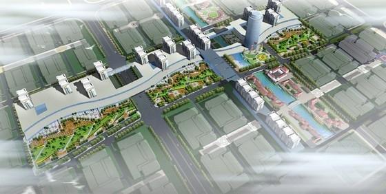 [台州]现代科技商城规划设计方案-鸟瞰图
