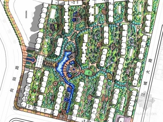 [吉林]新古典主义风情高档社区园林景观设计方案