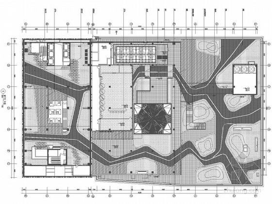[深圳]城市商业大厦屋顶花园景观设计施工图