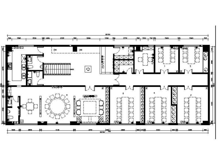 [乌鲁木齐]新中式特色餐厅室内设计施工图(含效果图)
