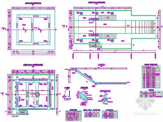 水库扩建工程冲沙底孔结构施工节点详图(2014年)