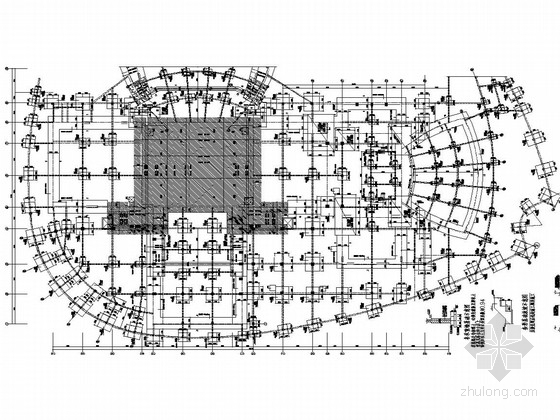 七层框架剪力墙结构人民大剧院结构图(2013.12月出图)