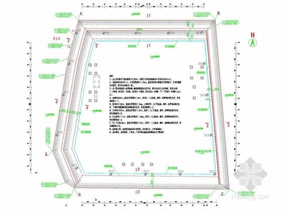 [广东]12米深基坑挂网喷锚支护施工图