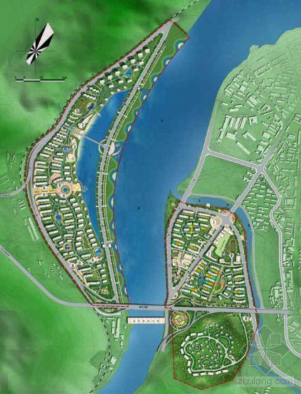 台州一江两岸景观规划设计方案