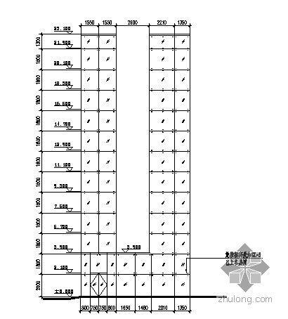 深圳市某印刷厂厂房扩建工程观光梯幕墙施工图