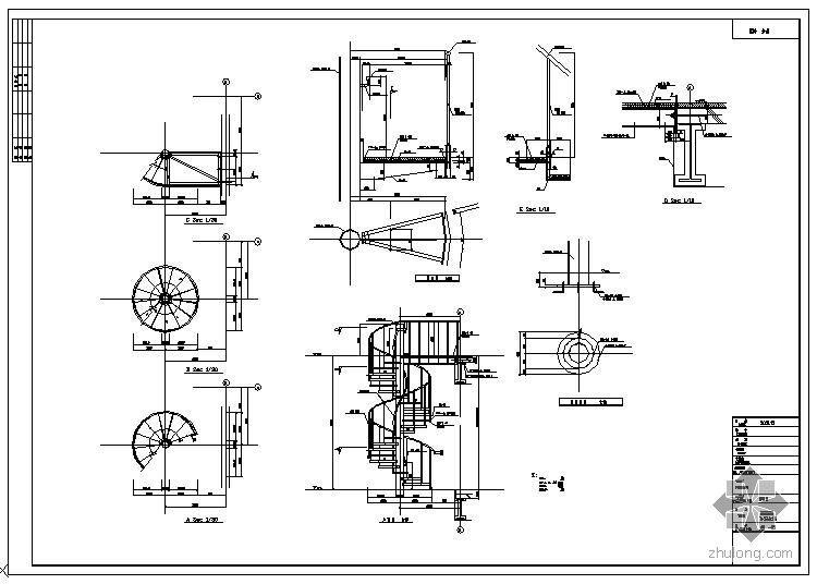 某螺旋楼梯节点构造详图(2)