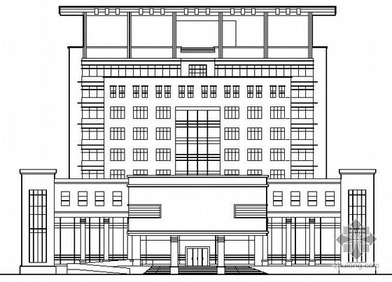 某九层法院建筑施工图