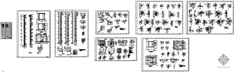 某S6抗渗电厂钢结构电梯井建筑结构图