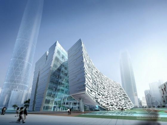 [广州]10层图书馆建筑设计方案文本(含CAD 动画)