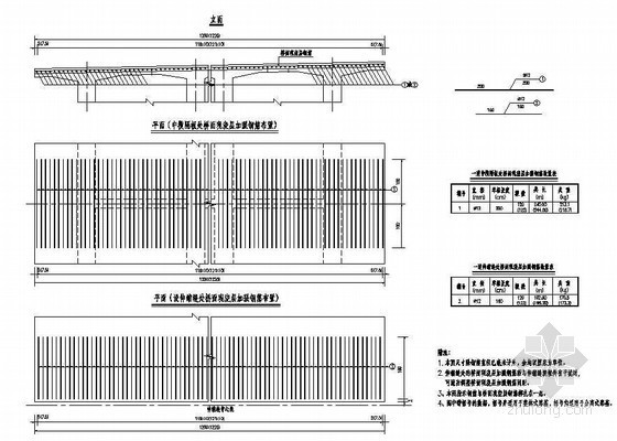 40米预应力简支T梁(新规范)桥面现浇层加强钢筋布置节点详图设计