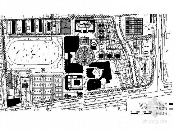 [江苏]太仓某职教中心校园扩建规划方案图