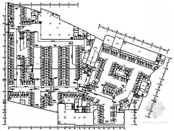 酒店地下停车场管理系统电气图纸