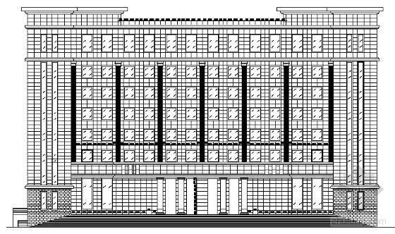 [云南省]某银行干挂石材幕墙办公楼方案图