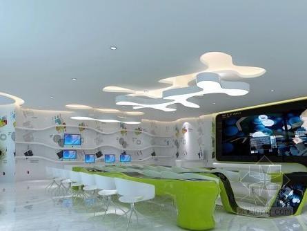 vr展厅3d模型资料下载-电信展厅3d模型下载