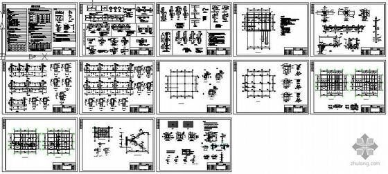 某饲料厂主车间建筑结构图纸