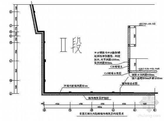 局部砌砖墙做外墙模板施工方案(单侧模板支撑)