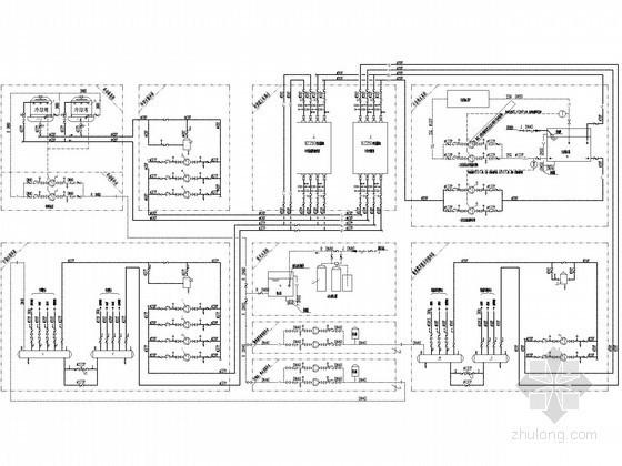 机场直燃机房暖通空调系统设计施工图