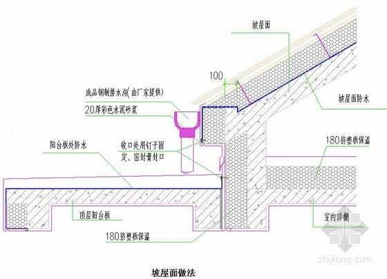 屋面防水工程坡屋面做法节点详图