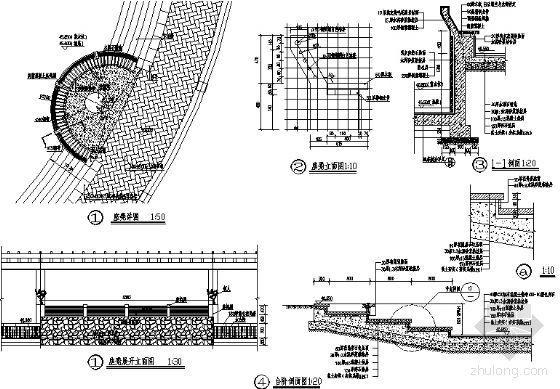 坐凳平面图及台阶详图-4