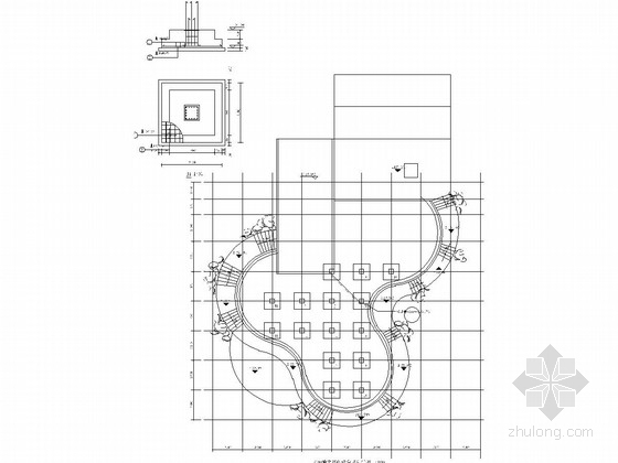 U型景观泳池结构施工图资料下载-公园架空游泳池结构施工图