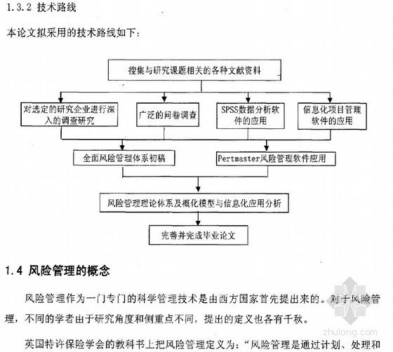 [硕士]工程总承包企业风险管理体系及信息化应用研究[2010]