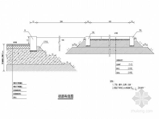 30m宽城市次干道工程全套设计图(55张 平纵横 人行道)