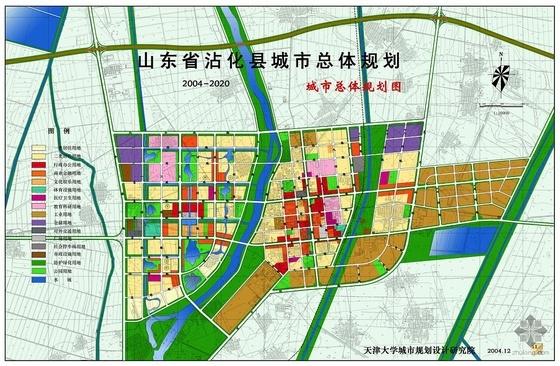 山东某县城市总体规划总平面图