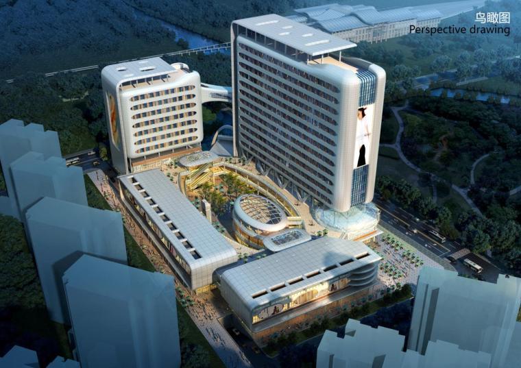 [海南]内走廊布局式现代化商业办公楼建筑设计方案文本