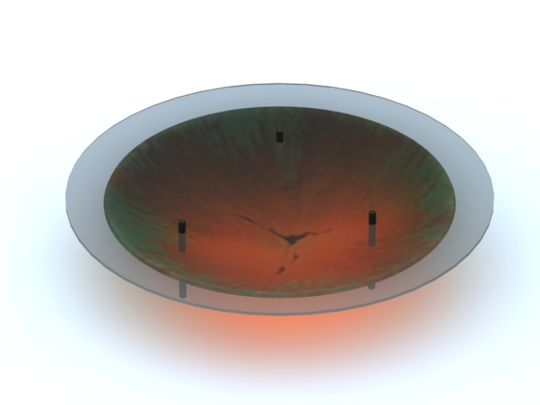 圆形玻璃茶几3D模型下载-圆形玻璃茶几
