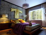 新中式卧室装修图资料免费下载