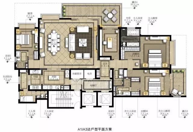室内设计必学技能:彩色平面图PS教程_2