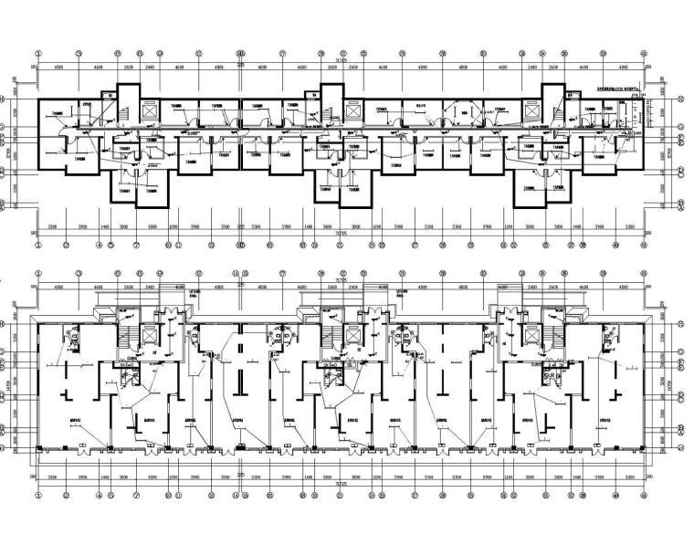 [新疆]住宅小区公寓楼电气全套施工图含变配电设计(知名院)