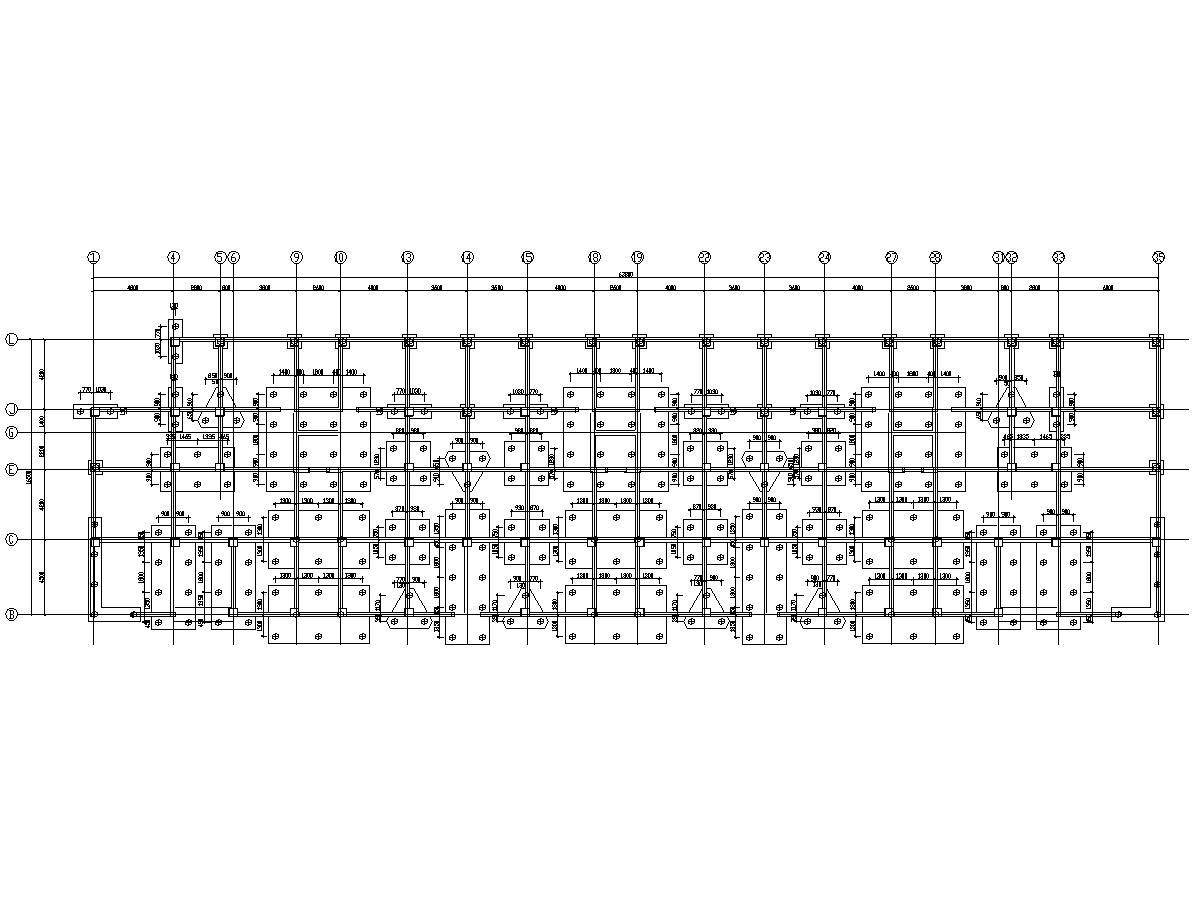 [海南]13层框架抗震墙结构安置楼房结构施工图