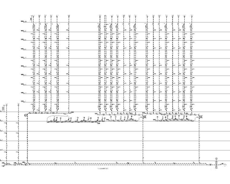 [甘肃]高层建筑给排水施工图(含给排水平面及系统,消防平面及系统,水泵房及卫生间大样等)_6