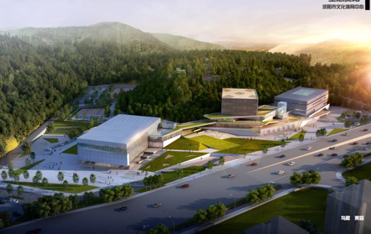 高层现代风格低碳城展览馆建筑设计方案文本(含多套方案)