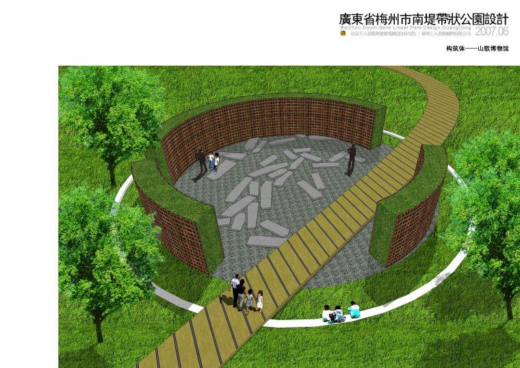 [广东]梅州市南堤带状公园景观规划设计方案