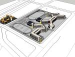 现代风格中学建筑设计模型