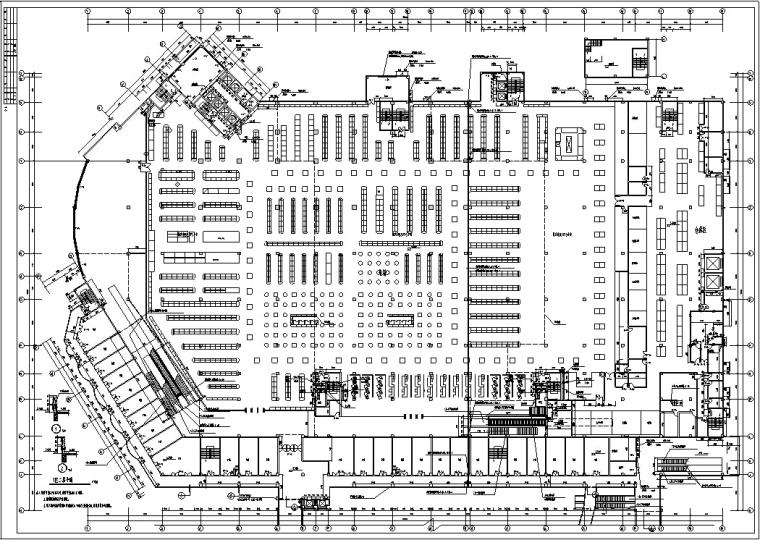 3套商住综合楼建筑设计施工图CAD-黄金海岸商住综合楼平面图2