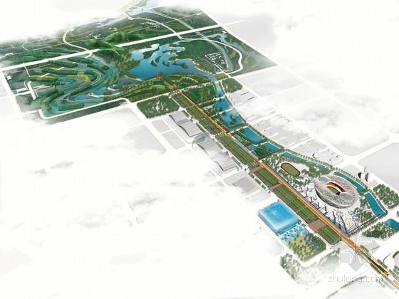 [北京]体育运动精神森林公园及中心区规划设计方案