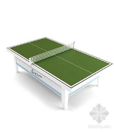 vray材质球素材资料下载-乒乓球桌4