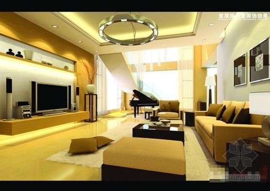 [广州]山水之间新中式风格三层别墅装修图(含效果图)效果图