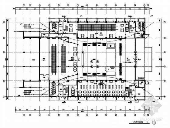 [江苏]独创哲学社会科学研究机构学院新校区图书馆装修施工图(含效果)
